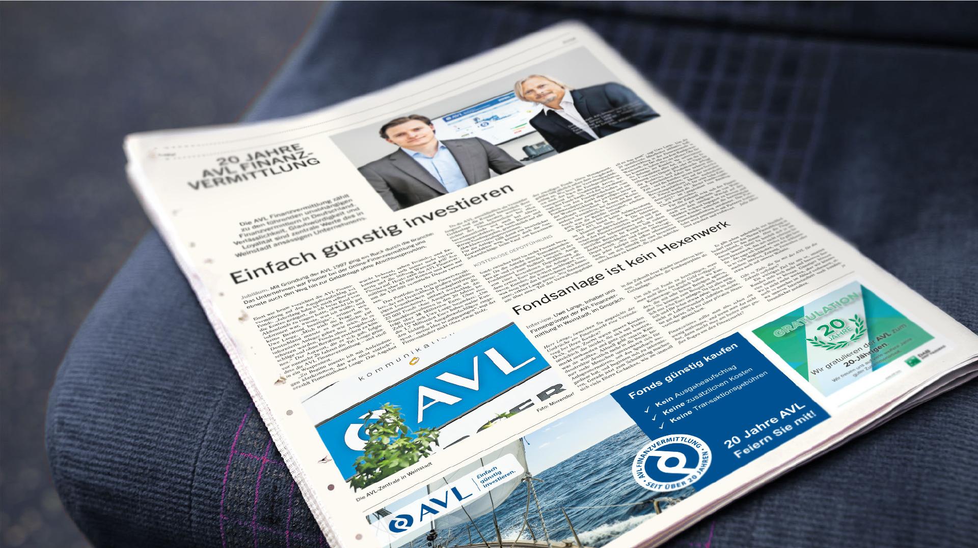 AVL Zeitung auf Sitz in Bus