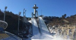 Ceramtec Ski-Schanze im Schnee
