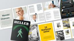 Heller Magazin aufgeschlagen