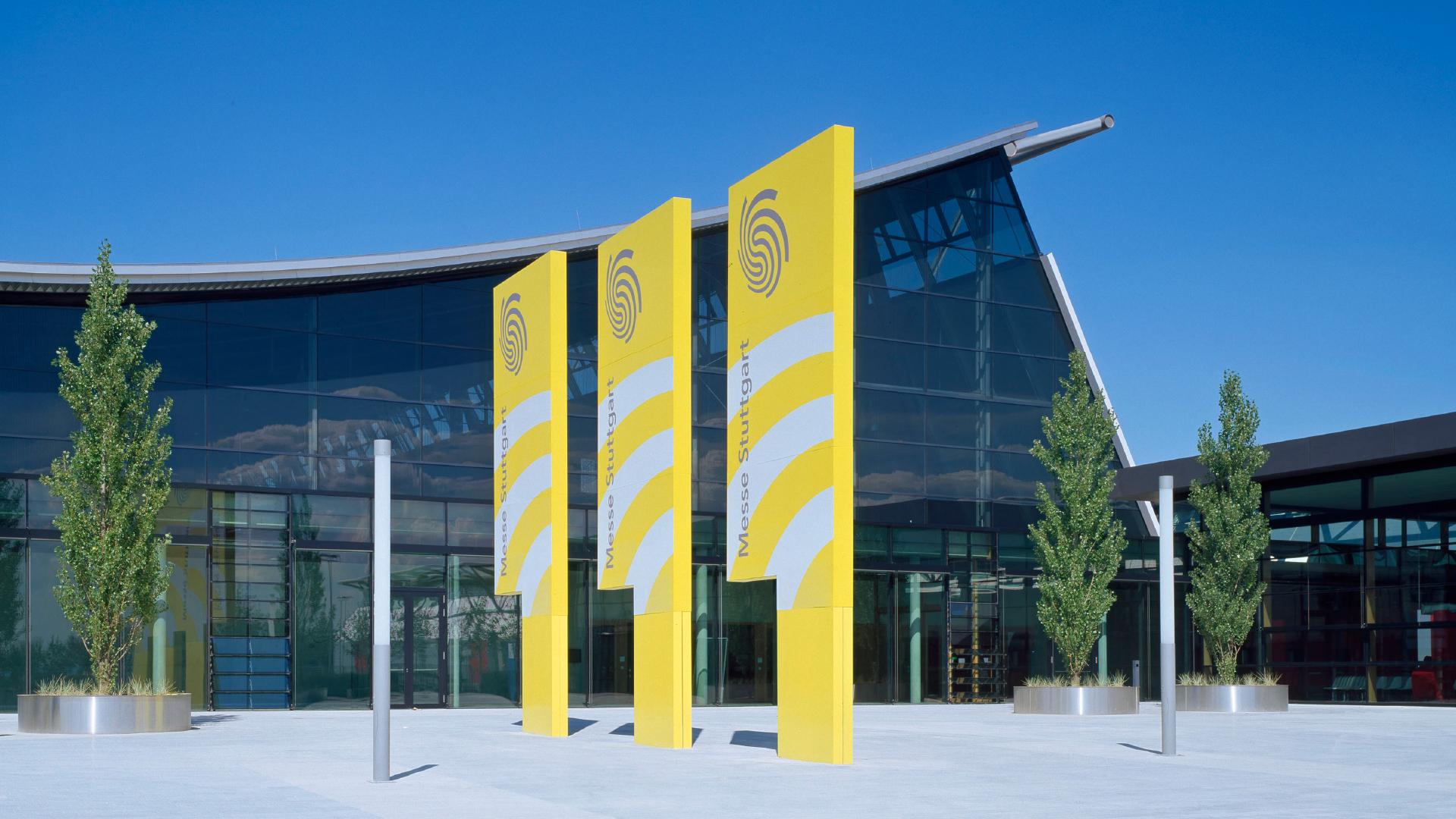 Gebäude Messe Stuttgart von außen