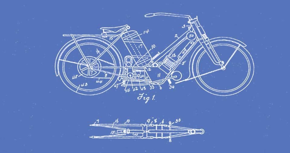 Technische Zeichnung Motorrad