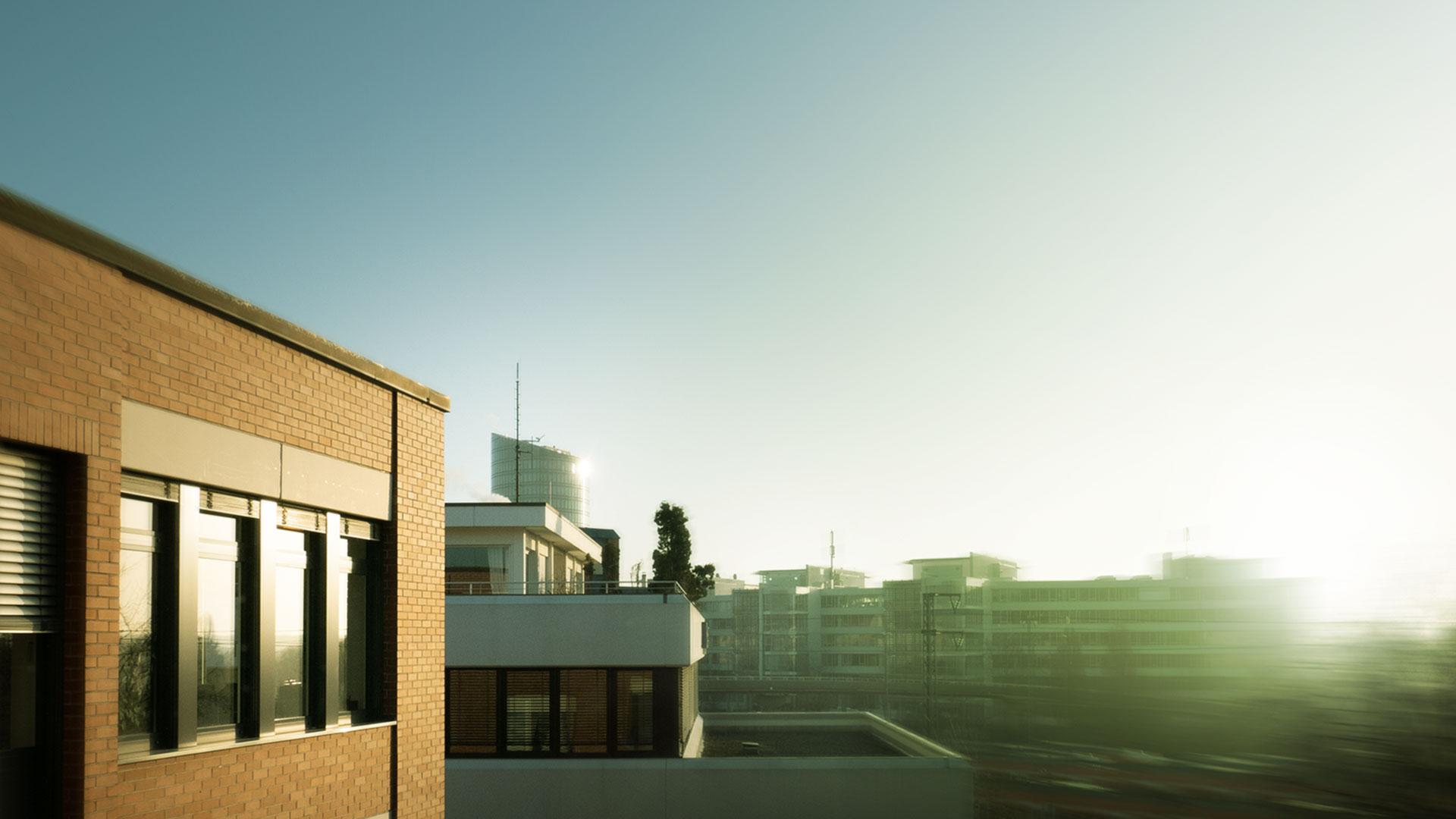 echolot Stuttgart Dachterrasse Sonnenaufgang